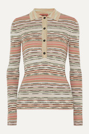 Missoni Striped ribbed crochet-knit wool sweater