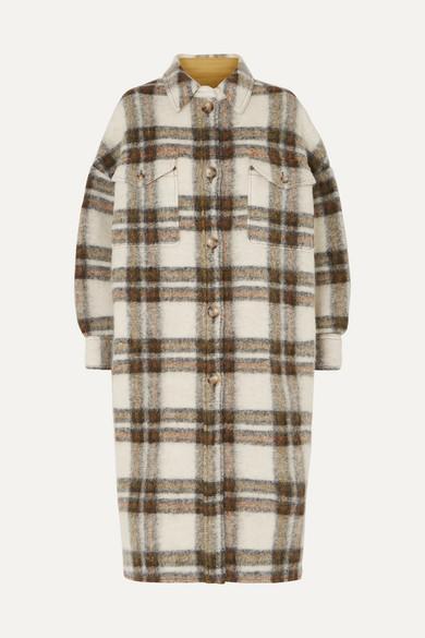 Etoile Isabel Marant Coats GABRION OVERSIZED CHECKED BRUSHED-FELT COAT