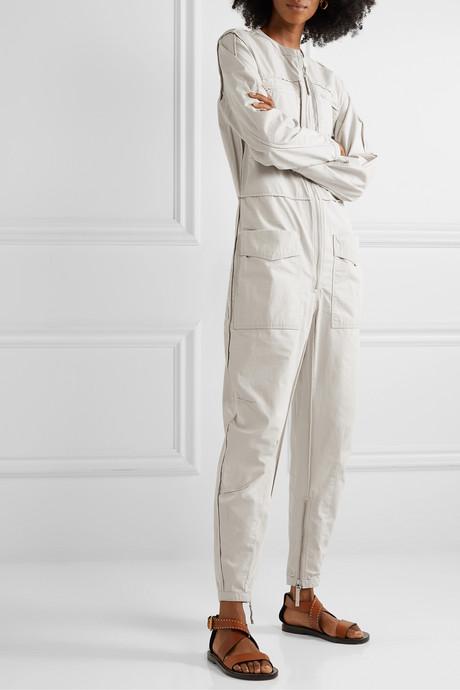 Leiko cotton-canvas jumpsuit