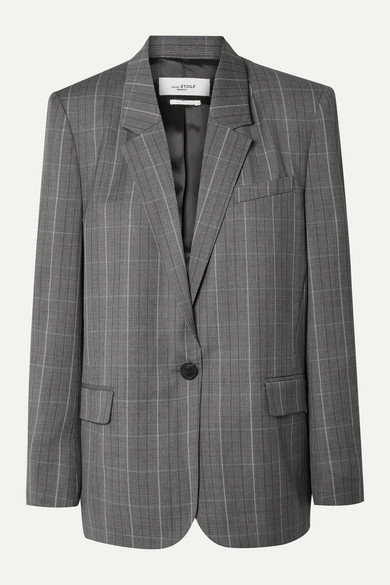Verix Prince Of Wales Checked Wool Blazer by Isabel Marant Étoile