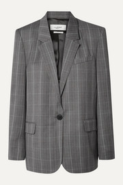 Isabel Marant Étoile Verix Prince of Wales checked wool blazer