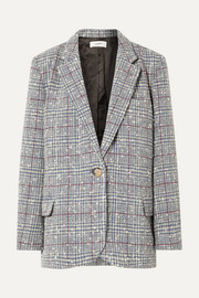 Kice checked wool-blend bouclé blazer