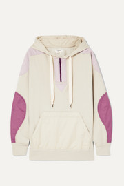 Nansel paneled cotton-blend jersey and twill hoodie