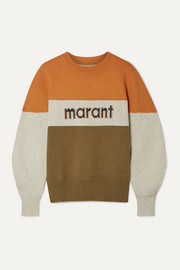 이자벨 마랑 에뚜왈 케이디 로고 스웨터 Isabel Marant Etoile Kedy color-block intarsia knitted sweater