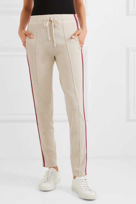 Darion striped knitted track pants