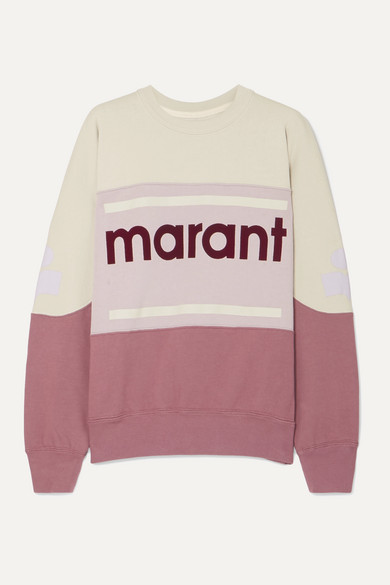 Etoile Isabel Marant Cottons GALLIAN FLOCKED COTTON-BLEND JERSEY SWEATSHIRT