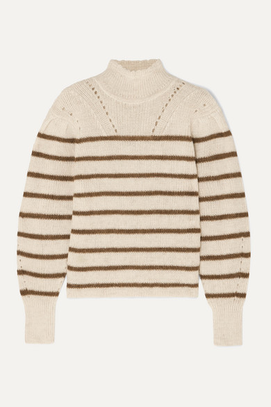 Georgia Striped High Neck Alpaca Blend Sweater by Isabel Marant Étoile