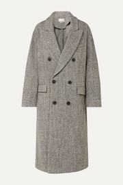 Habra double-breasted bouclé coat