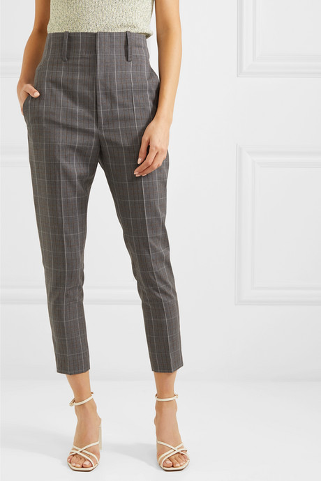 Noah checked wool tapered pants