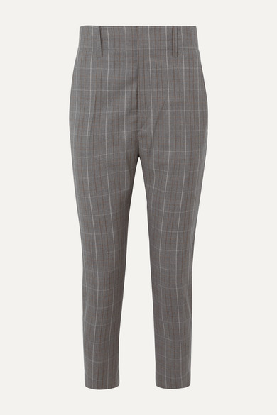 Noah Checked Wool Tapered Pants by Isabel Marant Étoile