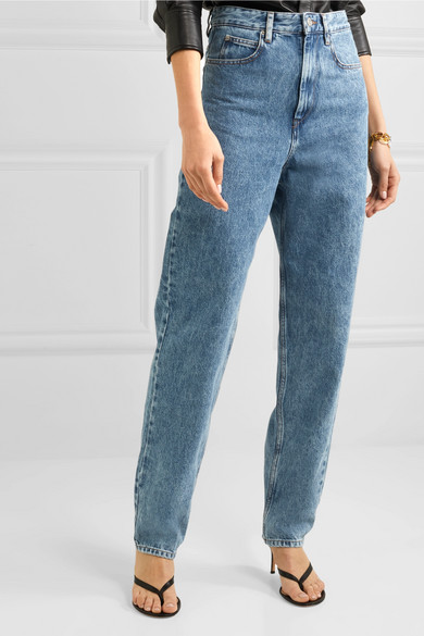 Isabel Marant étoile Corsyj High Rise Tapered Jeans Net