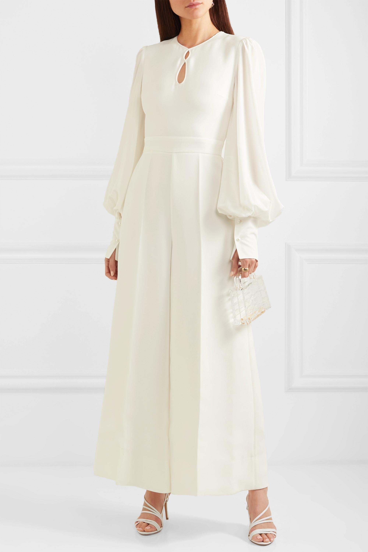 Roksanda Aunya cady and crepe jumpsuit