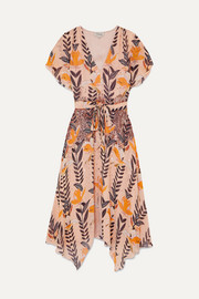 Temperley London Bellflower sequin-embellished floral-print chiffon midi dress