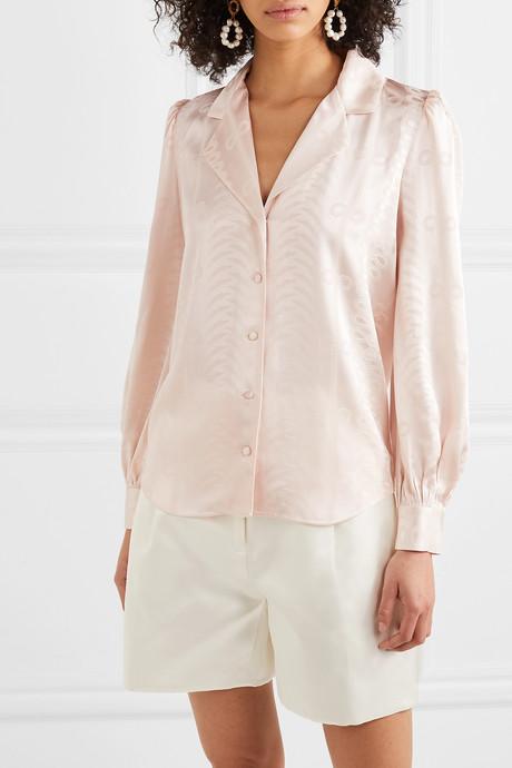Erika satin-jacquard shirt