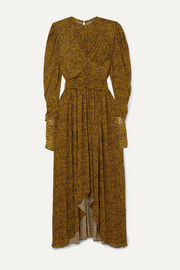Isabel Marant Jucienne gathered leopard-print stretch-knit dress