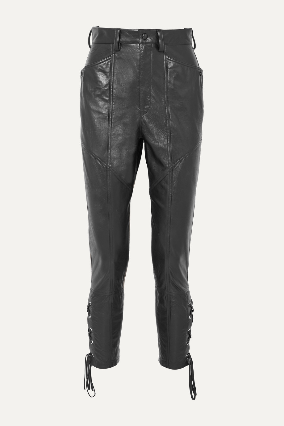 Isabel Marant Cadix lace-up tapered leather pants