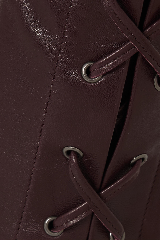 Isabel Marant Cadix leather straight-leg pants