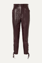 Cadix leather straight-leg pants
