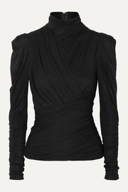 Isabel Marant Jalford ruched stretch-jersey turtleneck top