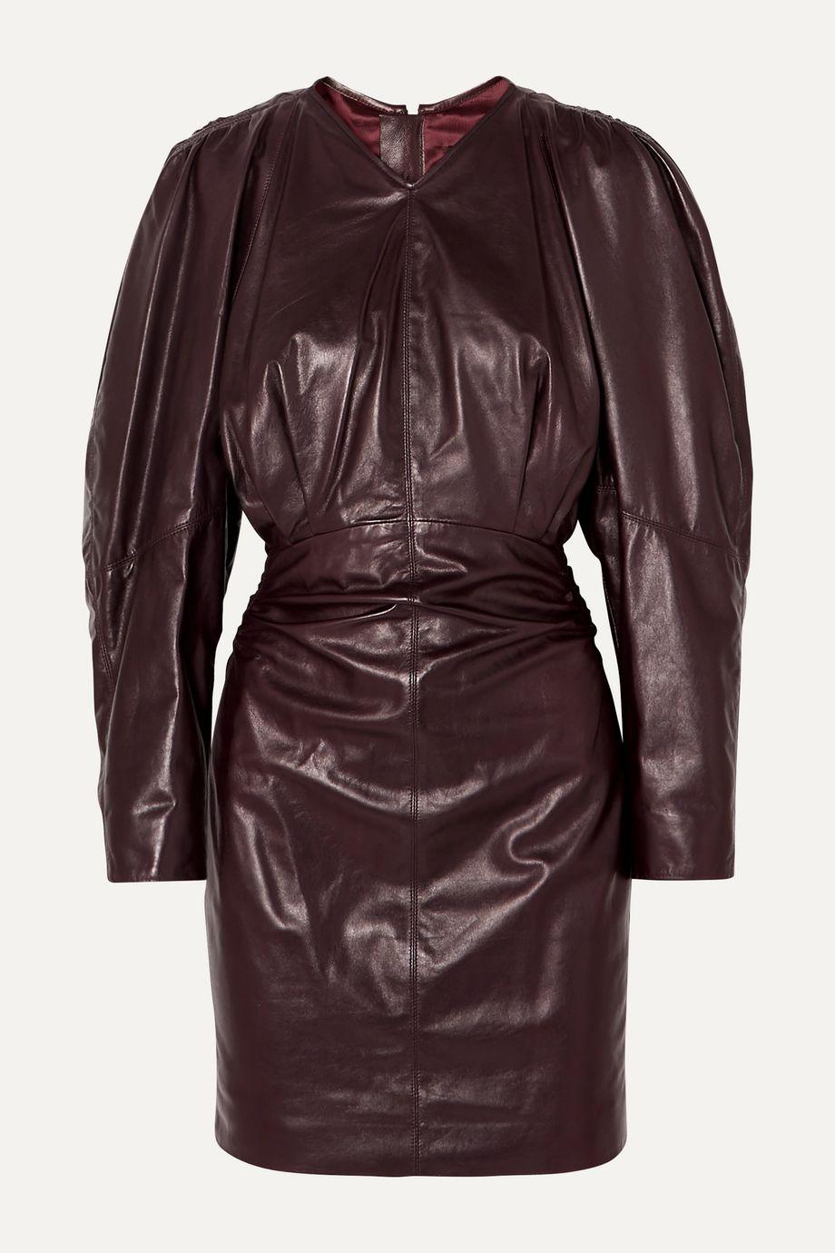 Isabel Marant Celini Minikleid aus gerafftem Leder