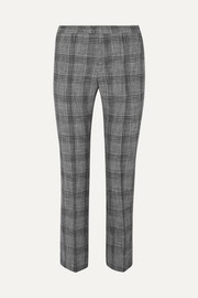 Isabel Marant Derys checked cotton-blend straight-leg pants