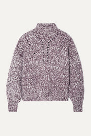 Isabel Marant Jarren mélange alpaca-blend turtleneck sweater