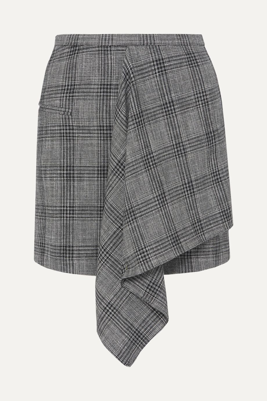 Isabel Marant Doleyli draped checked cotton-blend mini skirt