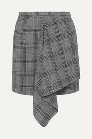 Isabel Marant Doleyli draped checked cotton-blend mini skirt