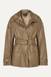 Isabel Marant Belted coated cotton-canvas jacket