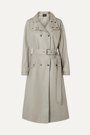 Isabel Marant Tatiana double-breasted coated cotton-canvas trench coat