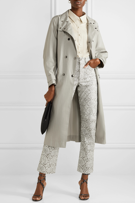 Isabel Marant Tatiana double-breasted coated cotton-canvas trench coat