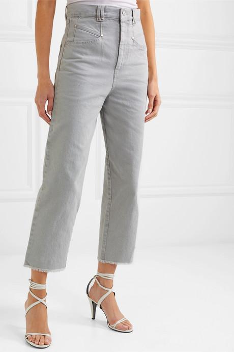 Daliska cropped high-rise straight-leg jeans