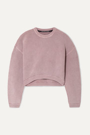 alexanderwang.t Cropped ribbed cotton-blend sweater