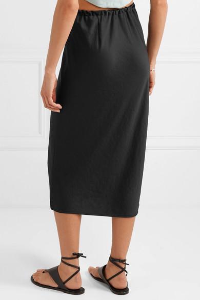 5b8d764190 alexanderwang.t | Crinkled-satin midi skirt | NET-A-PORTER.COM