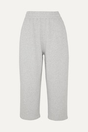 alexanderwang.t Cropped cotton-terry track pants