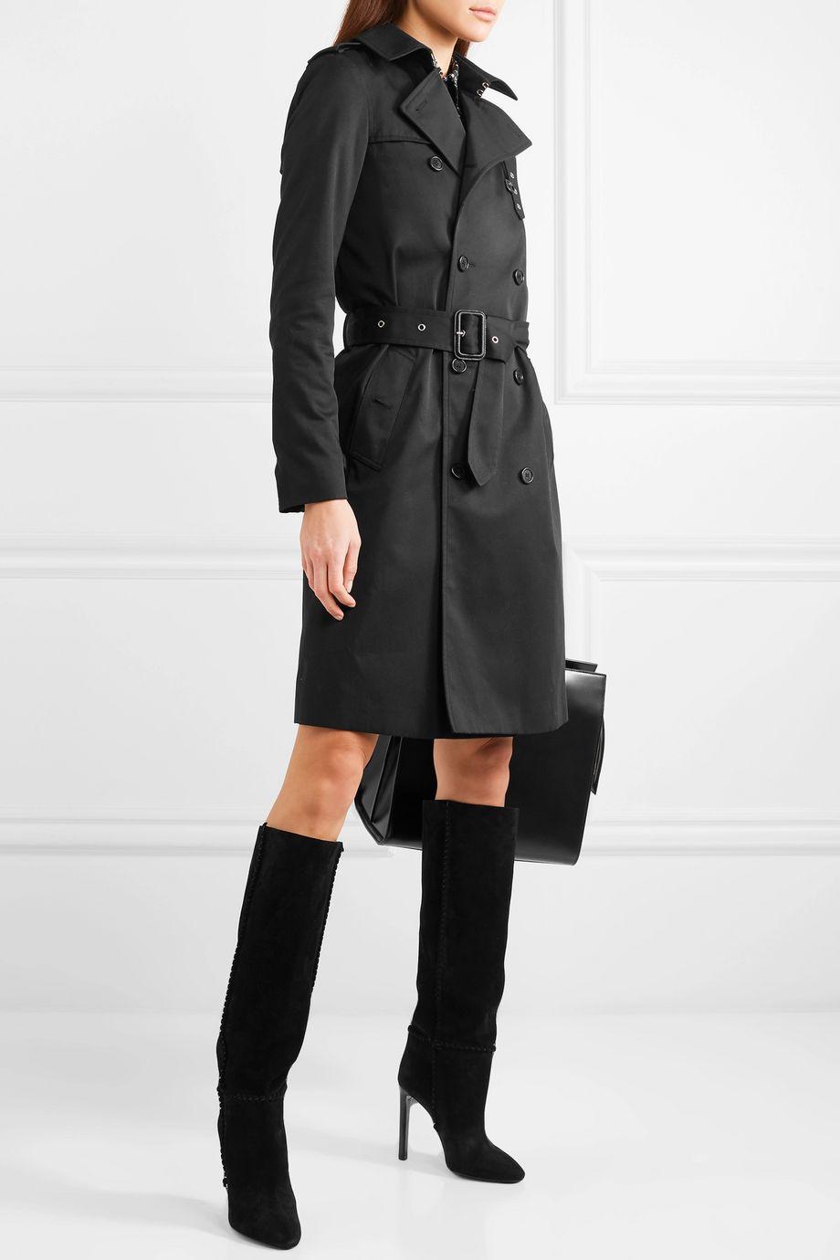 SAINT LAURENT Trench-coat en gabardine