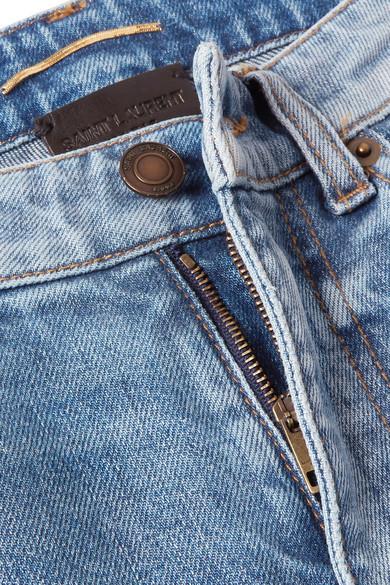 Saint Laurent Jeans Distressed low-rise skinny jeans