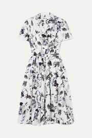 Jason Wu Collection Pleated floral-print cotton-poplin dress