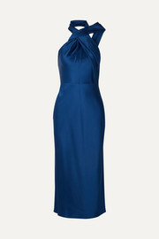 Jason Wu Collection Asymmetric satin-crepe halterneck midi dress