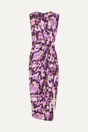 Jason Wu Collection Asymmetric floral-print stretch-jersey dress