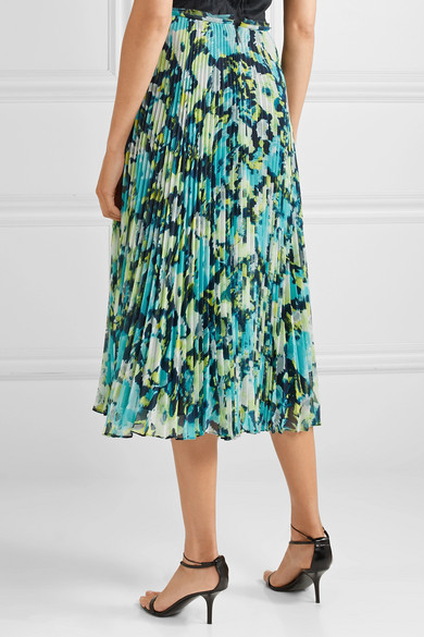 52c756ef0 Jason Wu Collection. Tulle-trimmed pleated printed chiffon midi skirt.  £706.89. Play