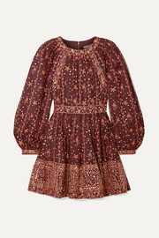 Ulla Johnson Daya embellished embroidered linen and cotton-blend mini dress