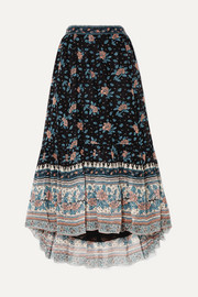Ulla Johnson Marina floral-print fil coupé silk-blend chiffon midi skirt