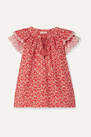 Ulla Johnson Elm broderie anglaise-trimmed floral-print cotton-poplin blouse