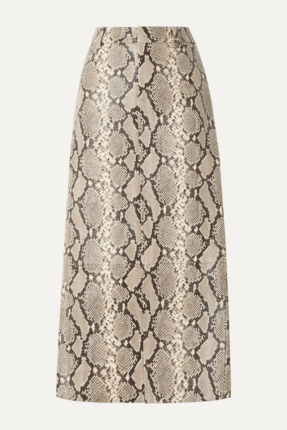 Alexander Wang Snake-effect leather midi skirt