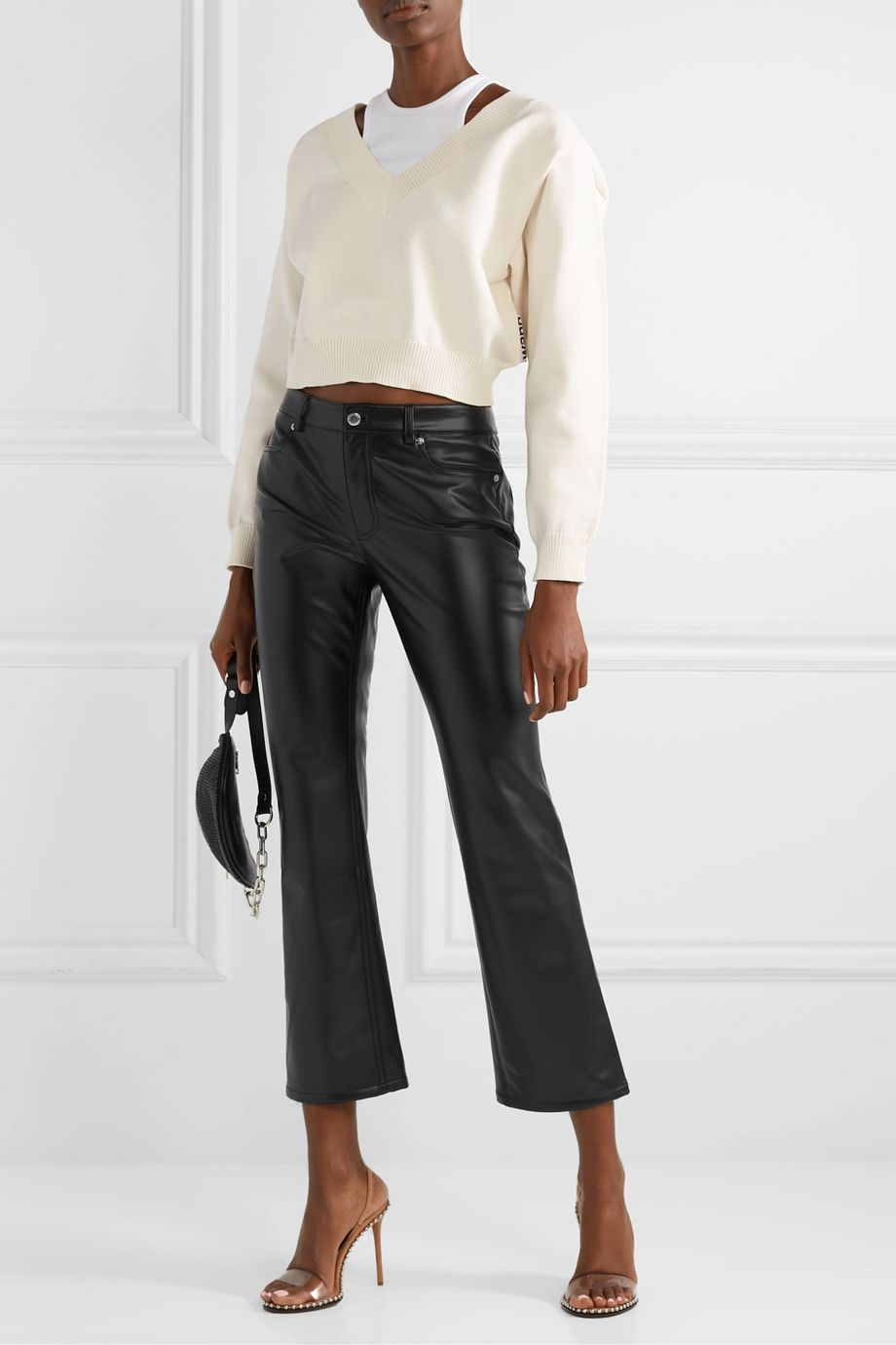 Alexander Wang Faux leather straight-leg pants