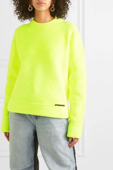 Ribbed terry sweatshirt