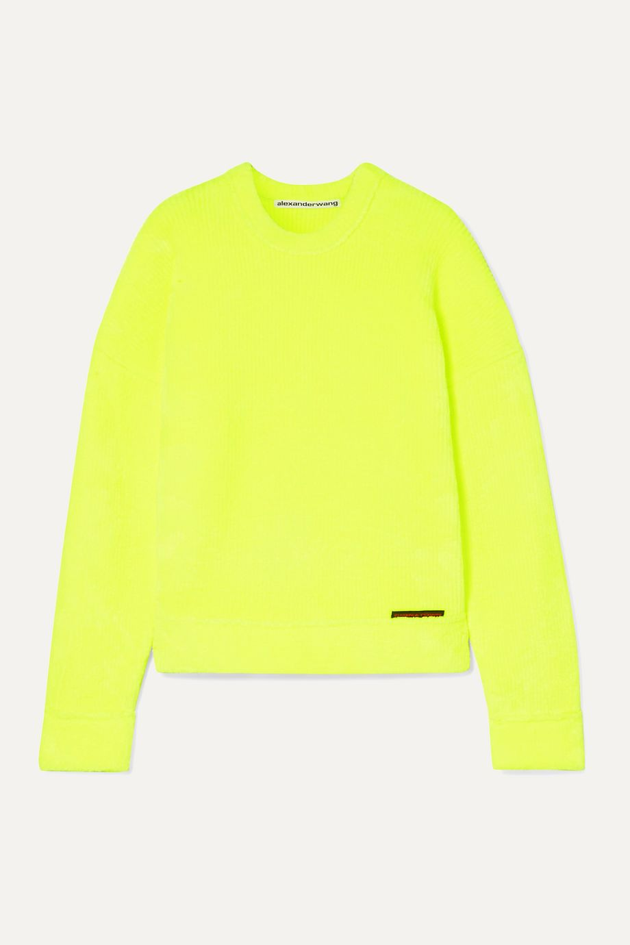 Alexander Wang Ribbed terry sweatshirt
