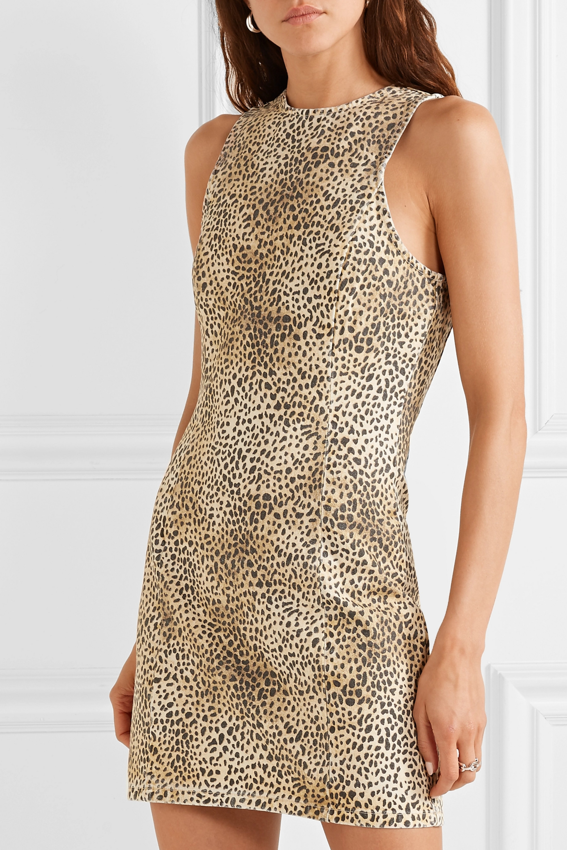 Alexander Wang Leopard-print denim mini dress