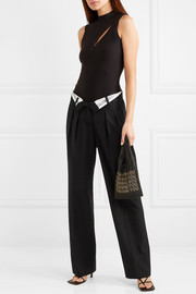 Alexander Wang Fold-over wool pants